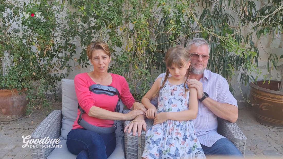 Familie Mostegl zwei Wochen nach dem Unfall.