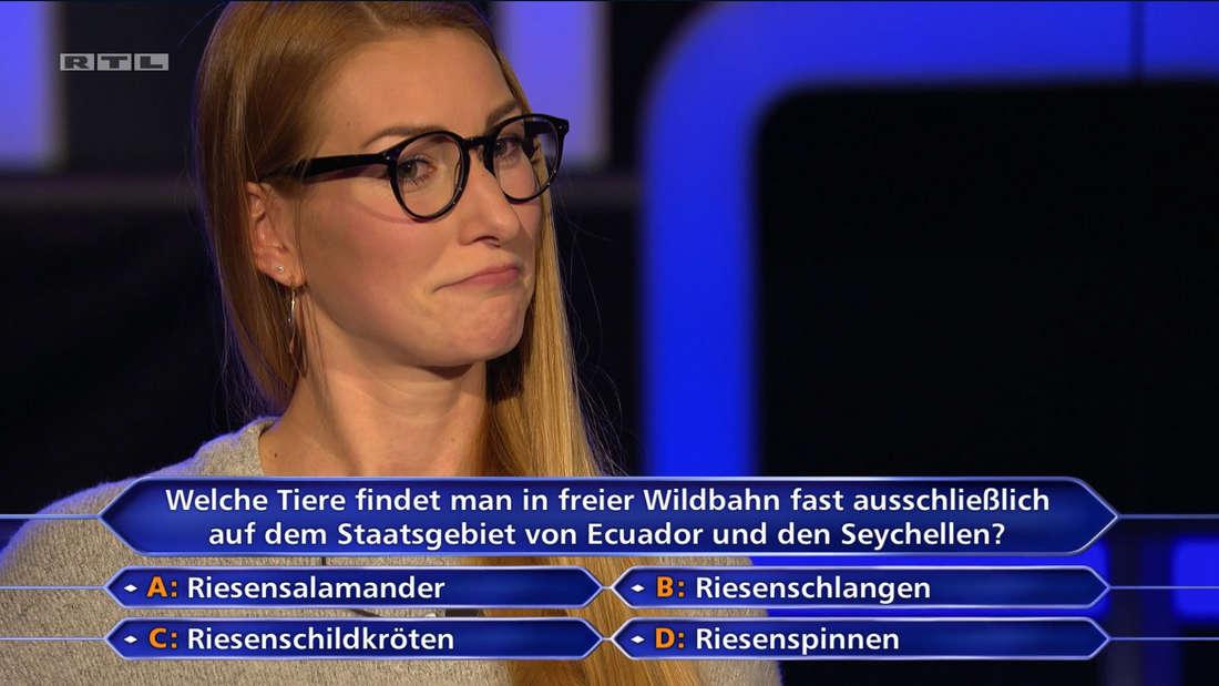 """Stefanie Hetzel bei """"Wer wird Millionär"""""""