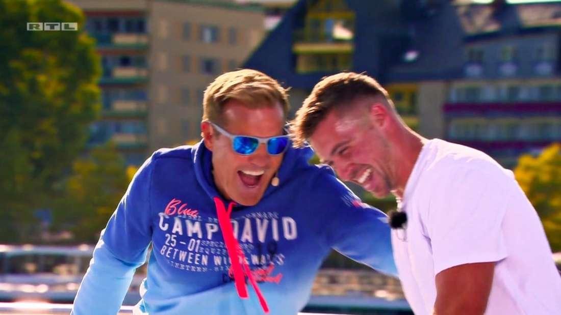 Dieter Bohlen und Ramon Roselly am DSDS-Casting Dampfer