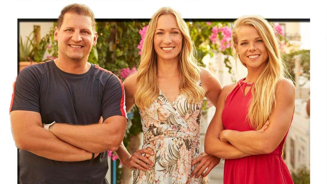 """Ramin Abtin, Christine Theiss und Petra Arvela bei """"The Biggest Loser"""" in der 12. Staffel."""