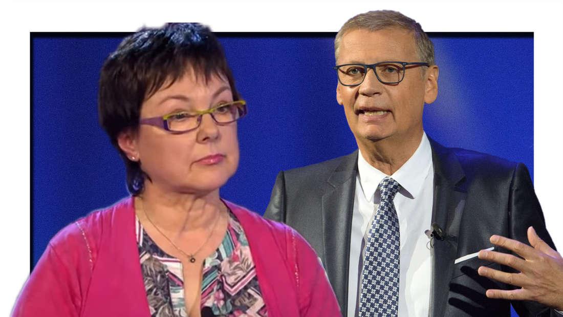 Wer wird Millionär: Moderator Günther Jauch und Kandidatin Ellen Marquardt