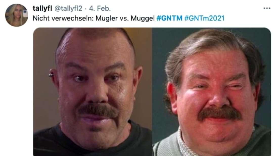 Manfred Mugler als Twitter-Meme: Neben Vernon Dursley