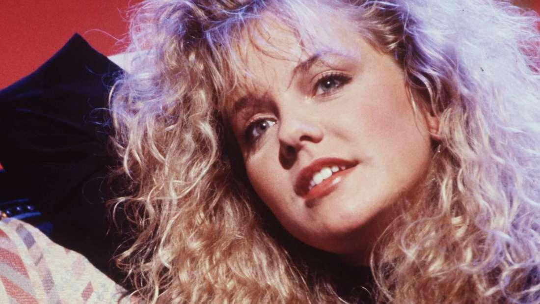 Inka Bause 1991: Mit Dauerwelle und blondem Haar.