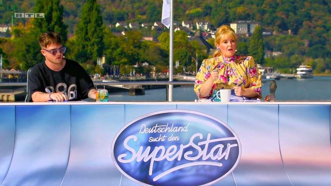Mike Singer und Schlagersängerin Maite Kelly hinter dem Jury-Pult