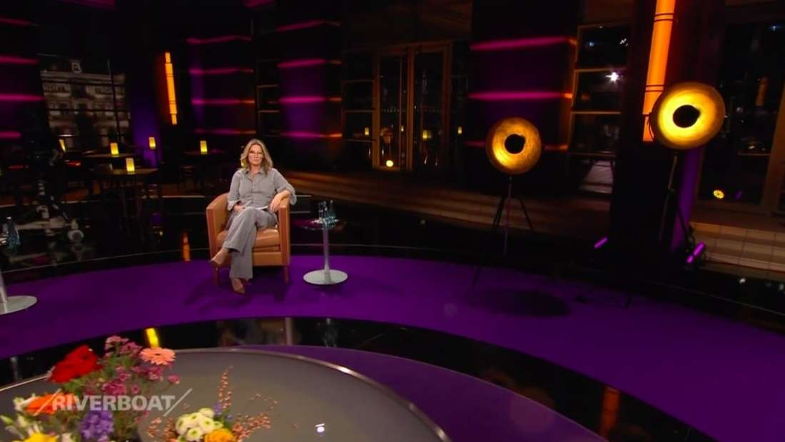 TV-Moderatorin Kim Fisher im MDR-Studio am 5. Februar 2021