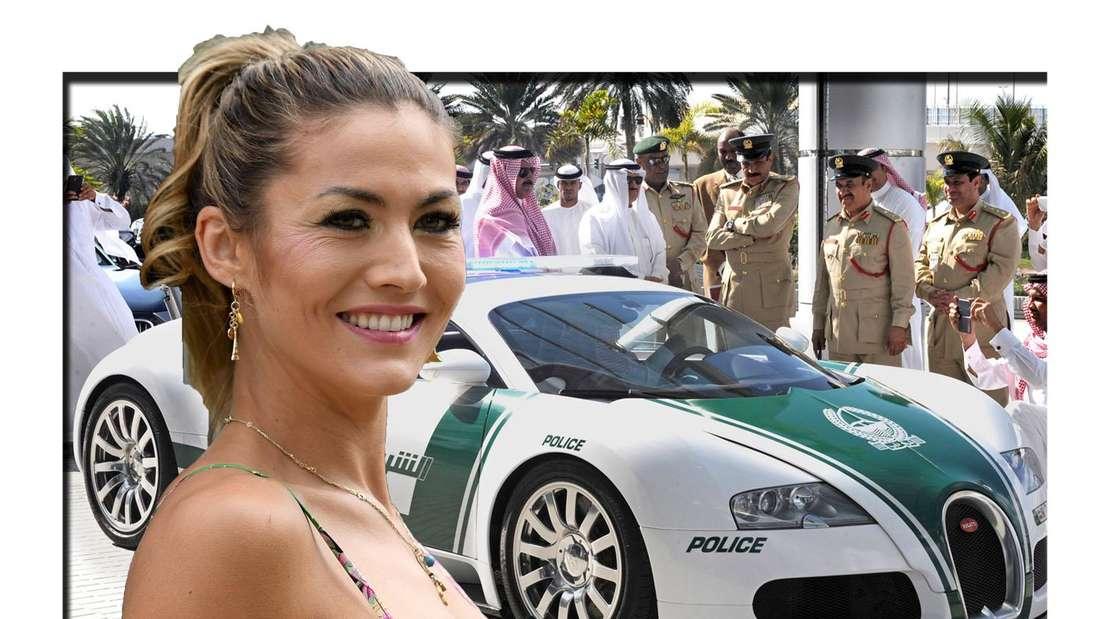 Fiona Erdmann vor Polizei in Dubai