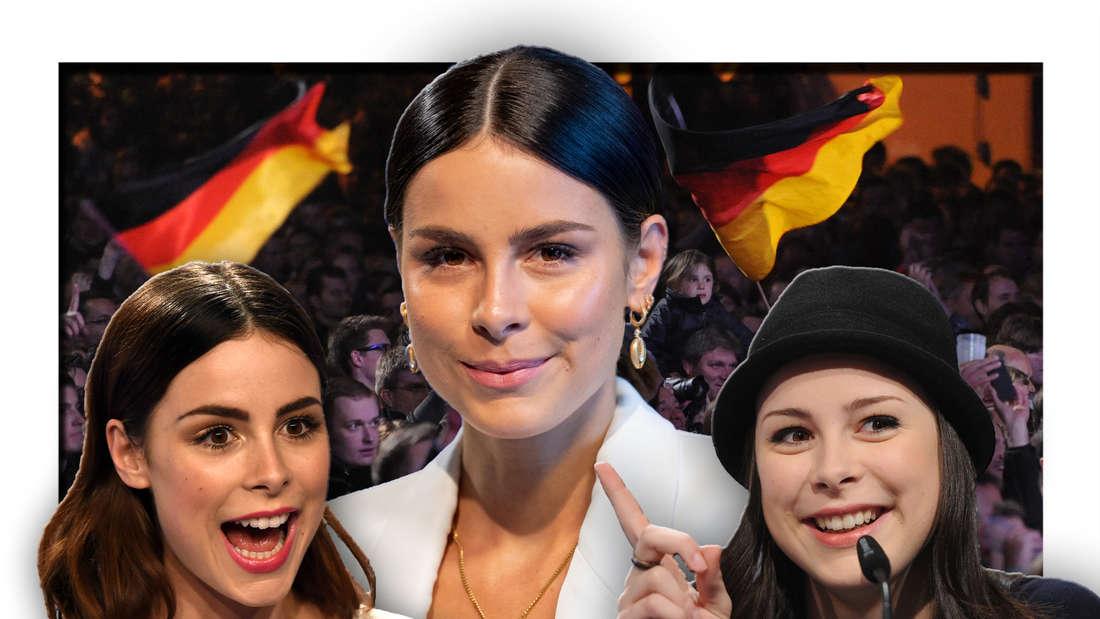 Popsängerin und ESC-Gewinnern Lena Meyer-Landrut vor zahlreichen Fans (Fotomontage)