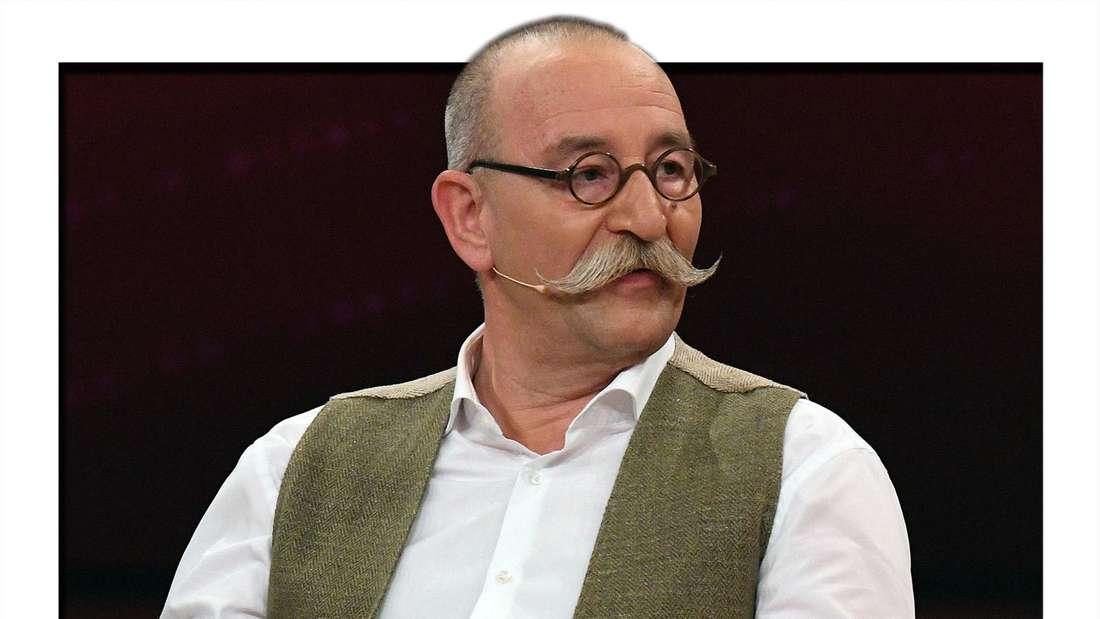 """Der Koch Horst Lichter spricht bei einer Aufzeichnung der ZDF-Fernsehshow """"Wir lieben Fernsehen""""."""