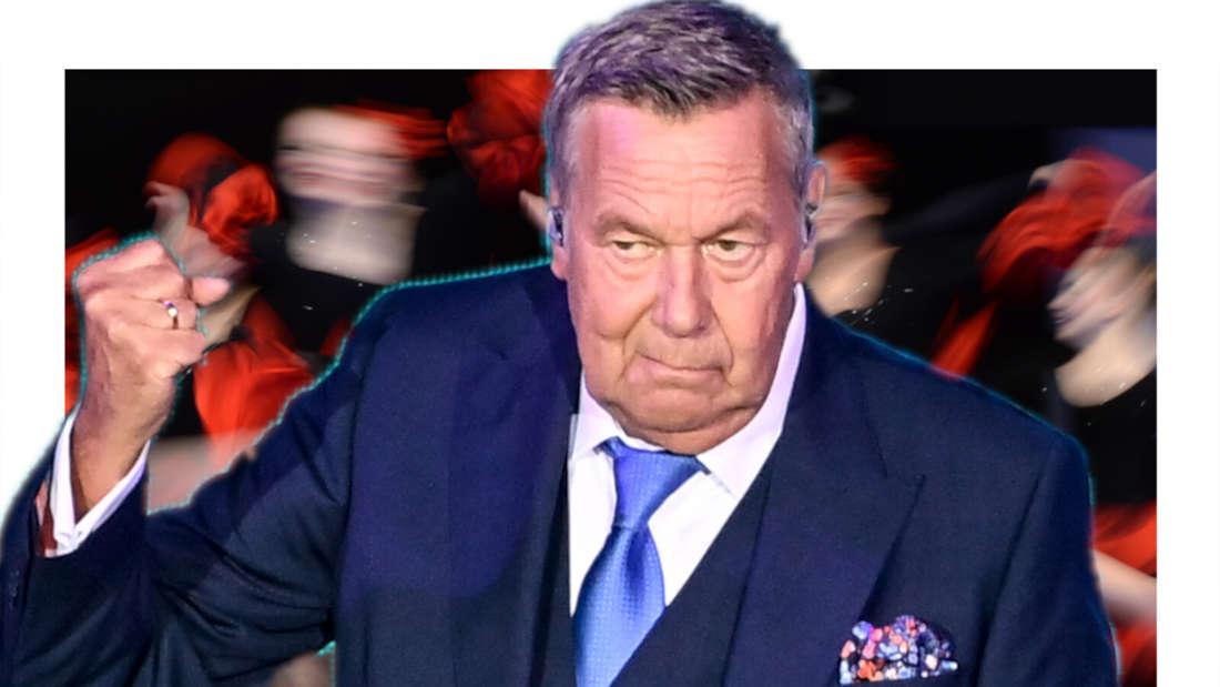 Roland Kaiser schaut nicht erfreut (Fotomontage)