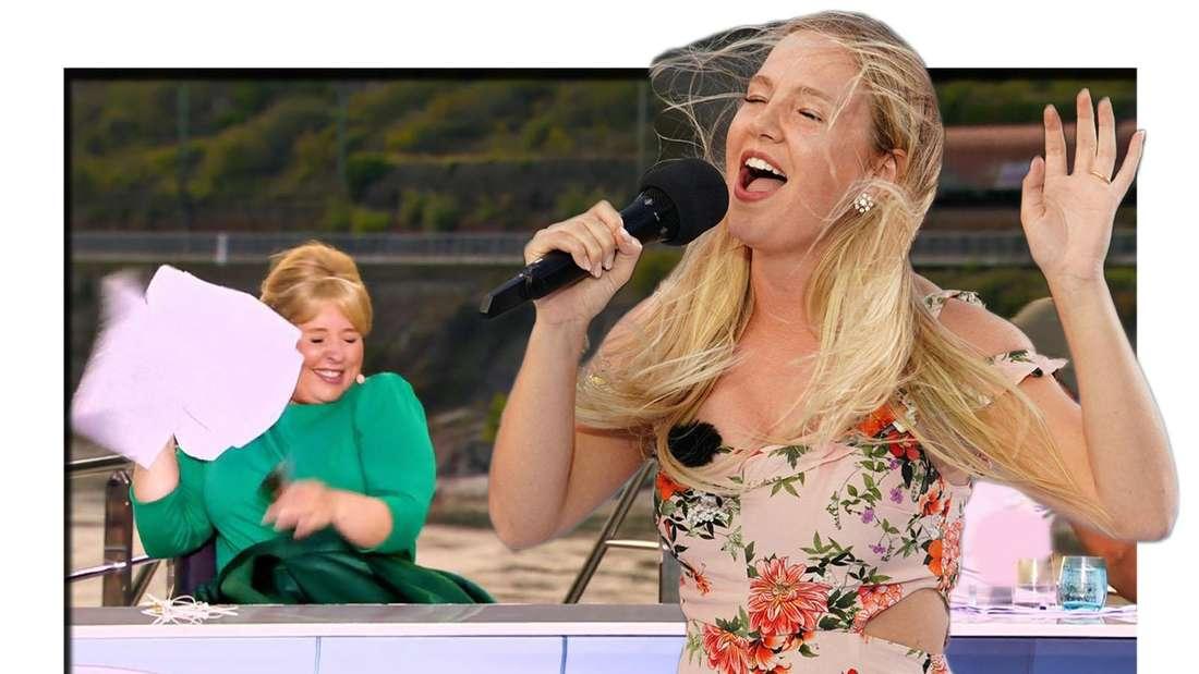 DSDS-Kandidatin singt und Maite Kelly hält ihre Papiere fest