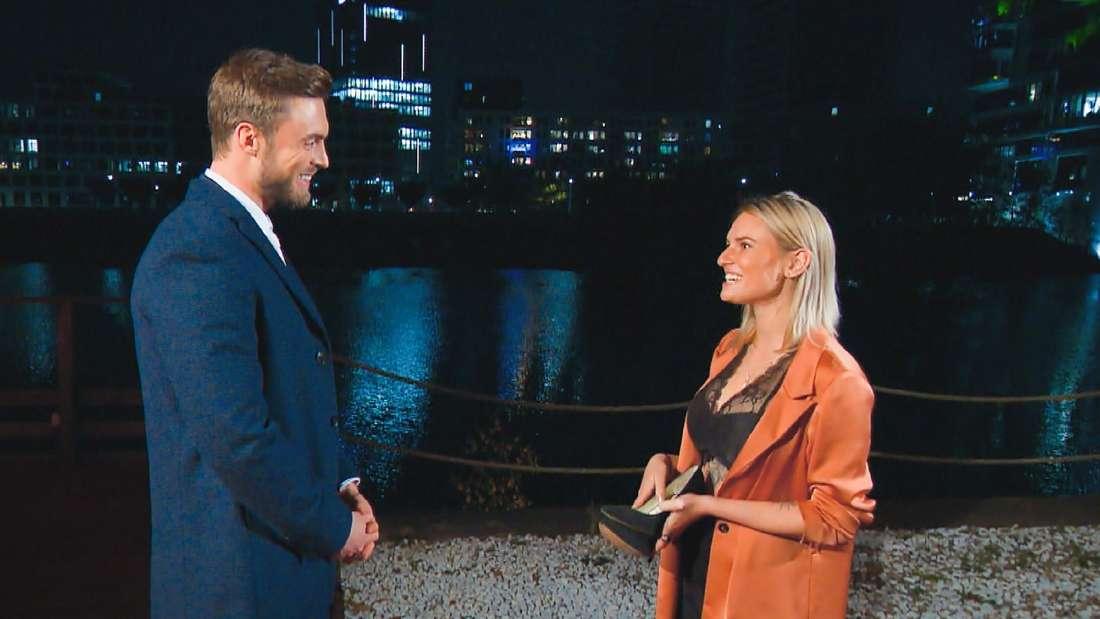 Kandidatin Kim-Denise Lang und Bachelor Niko Griesert treffen zum ersten Mal aufeinander