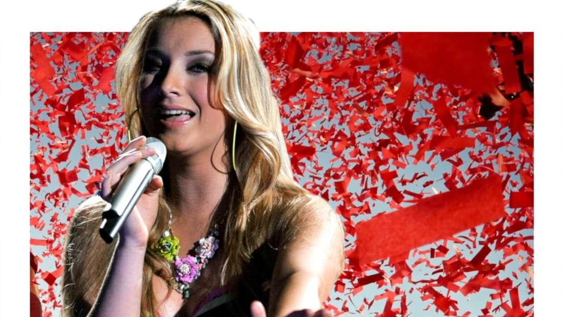 Anna-Carina Woitschack singt sehnsüchtig (Fotomontage)