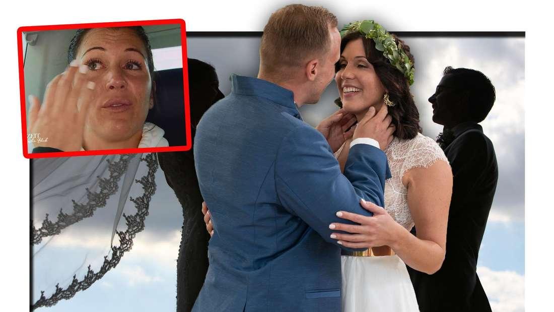 Hochzeit auf den ersten Blick: Lisa weint bitterlich in den Flitterwochen, daneben das Hochzeitsfoto