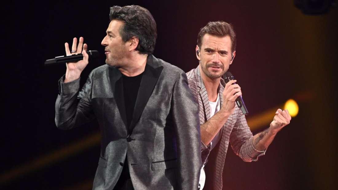 Thomas Anders und Florian Silbereisen singen auf einer TV-Bühne
