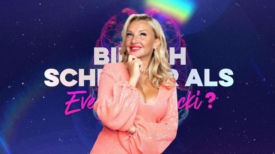 """Evelyn Burdecki am Set von """"Bin ich schlauer als Evelyn Burdecki?"""""""