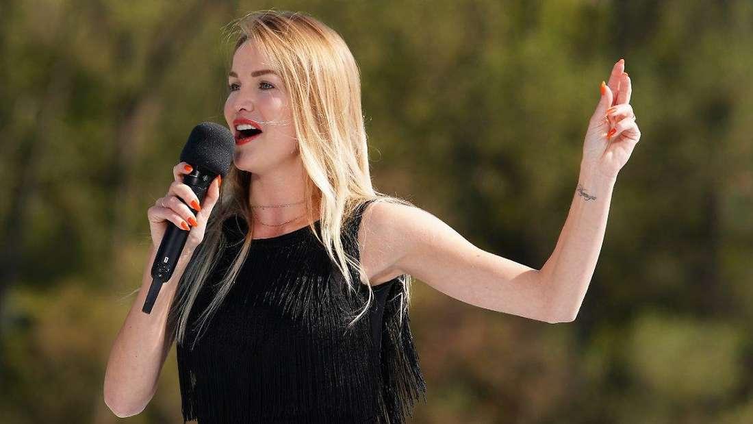 """Die """"Let's Dance""""-Profitänzerin Katja Kalugina flog bei DSDS bereits raus - doch RTL zeigte es nicht."""