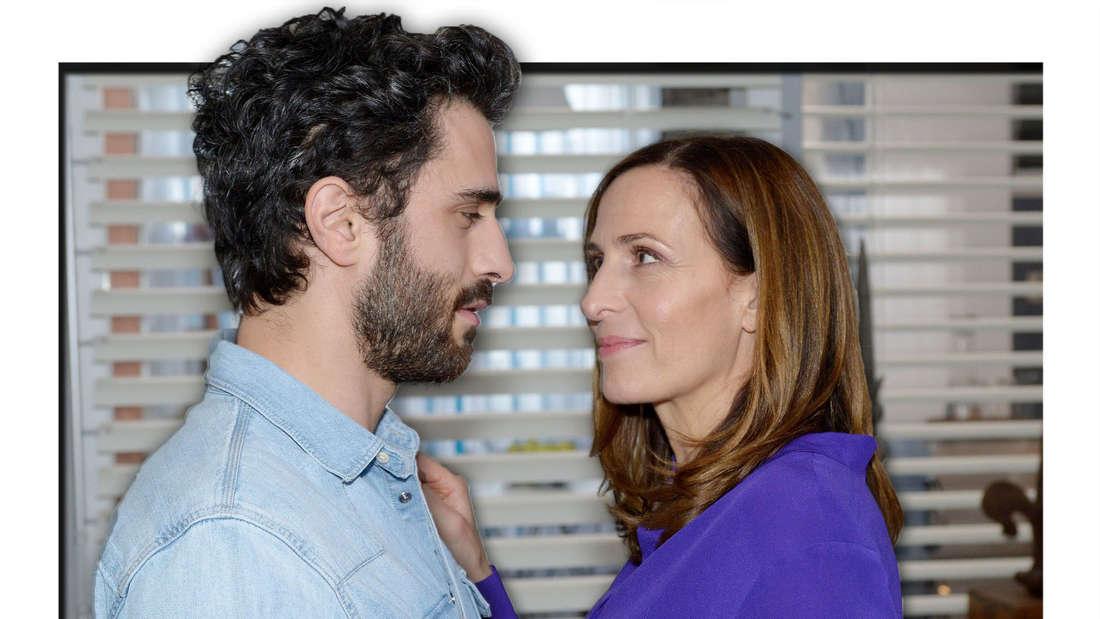 Tobias und Katrin schauen sich verliebt in die Augen