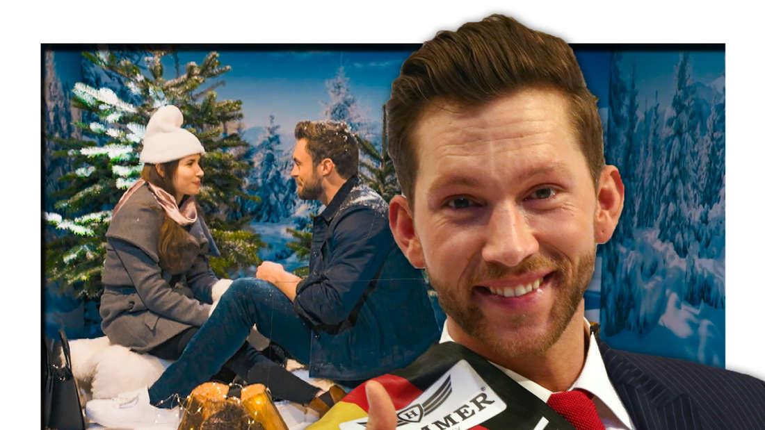 Niko Griesert mit Ether beim Einzeldate, Oliver Sanne grinst (Fotomontage)