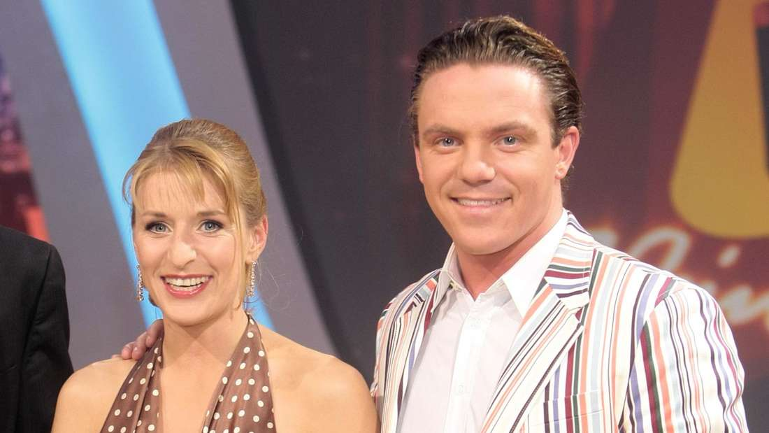 Stefanie Hertel und Stefan Mross bei einem TV-Auftritt