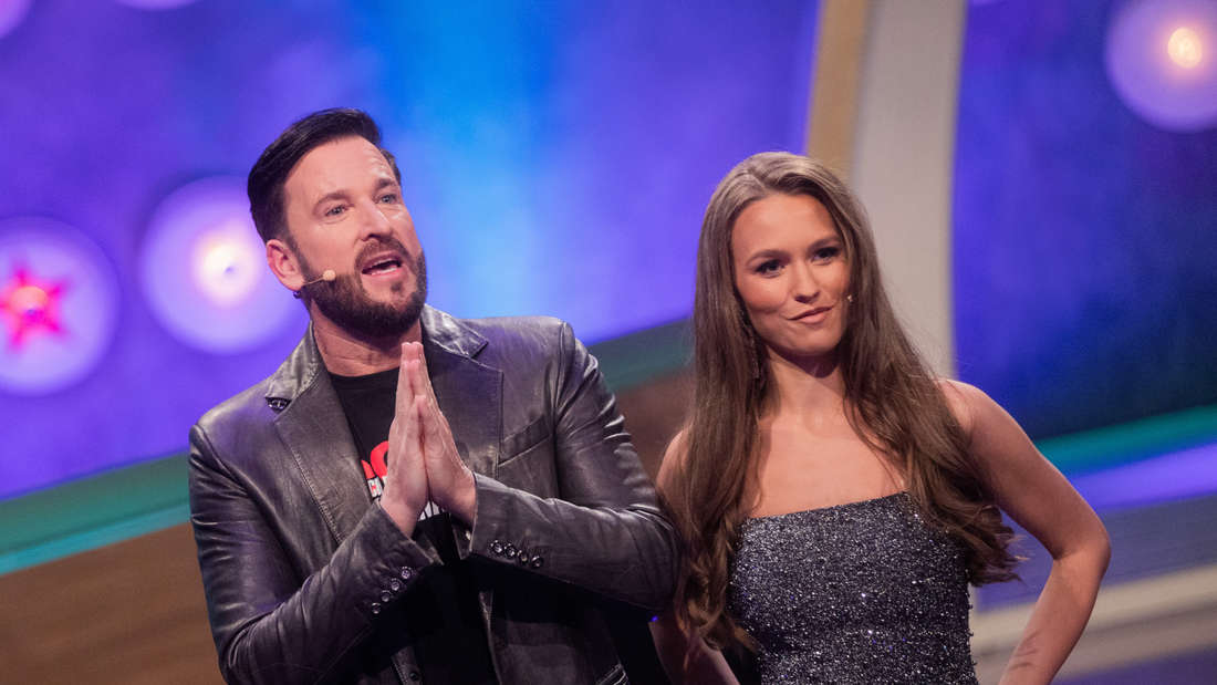Michael Wendler und Laura Müller in einer TV-Show
