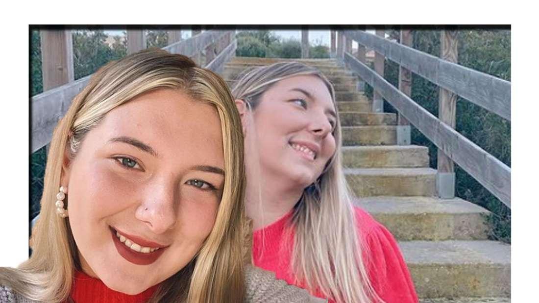 Joelina lächelt in die Kamera (Fotomontage)