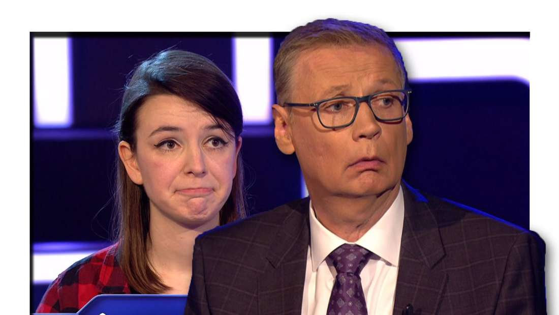 Fotomontage: Vorn Günther Jauch, im Hintergrund die Kandidatin