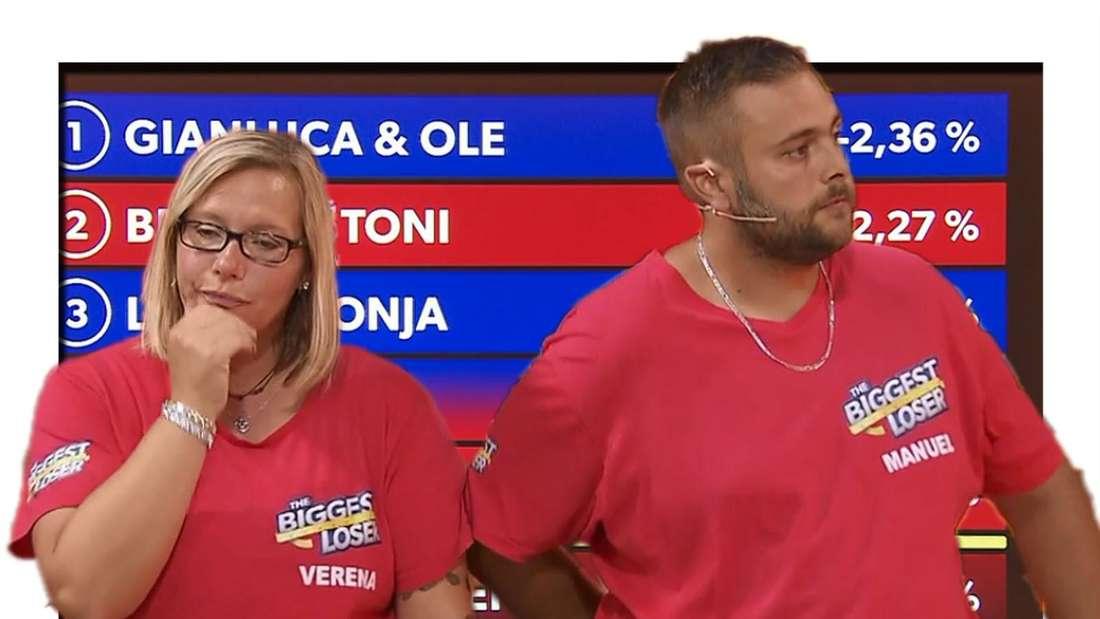 The Biggest Loser: Verena und Manuel beim Bekanntwerden der Ergebnisse auf der Waage