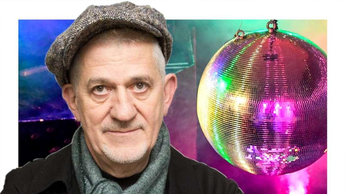 Ilja Richter vor einer Disco Kugel