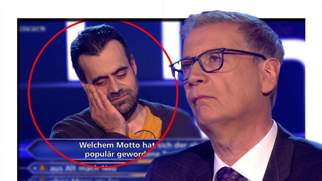 Wer wird Millionär (RTL): Günther Jauch demütigt den Kandidaten Yontu Diker und macht ihm eine klare Ansage. (Fotomontage)