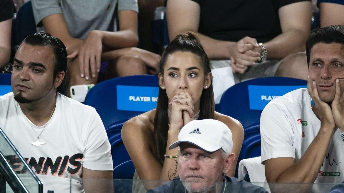Im Januar 2020 fieberte Brenda Patea bei den Australian Open mit Alexander Zverev mit.
