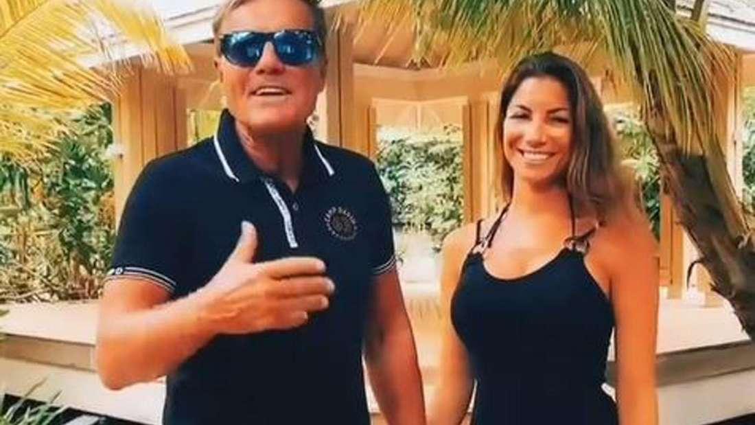 Dieter Bohlen und seine Freundin Carina auf den Malediven.