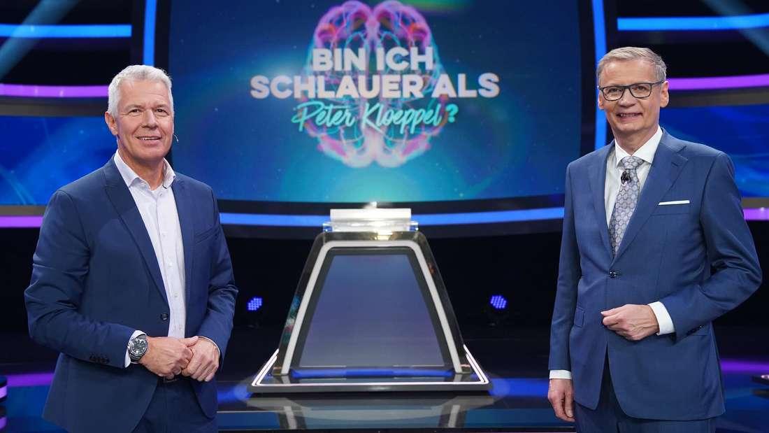 """Peter Kloeppel und """"Wer wird Millionär""""-Moderator Günther Jauch"""