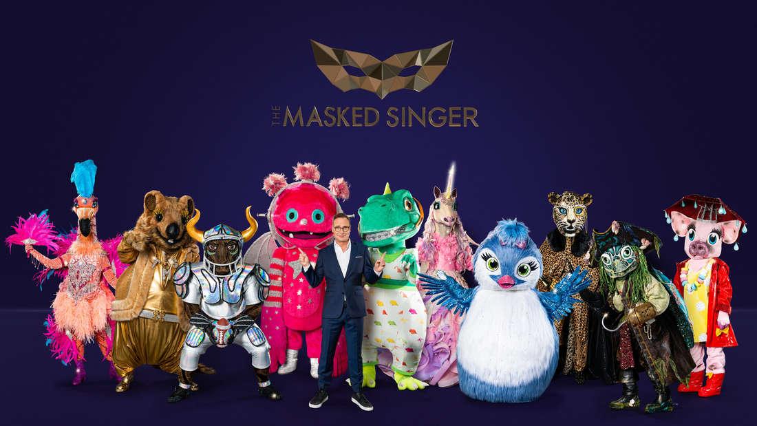 """""""The Masked Singer"""" geht in die vierte Runde. Moderator Matthias Opdenhövel präsentiert die zehn Masken."""