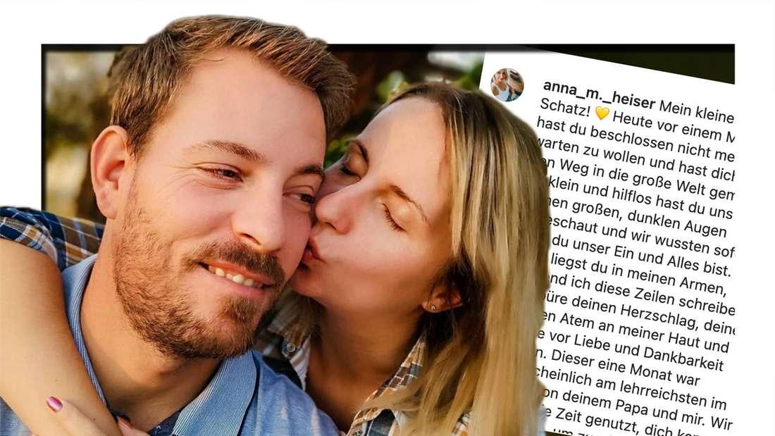 Anna und Gerald Heiser schreiben auf Instagram nun, wie der erste Monat mit ihrem Baby war. (Fotomontage)