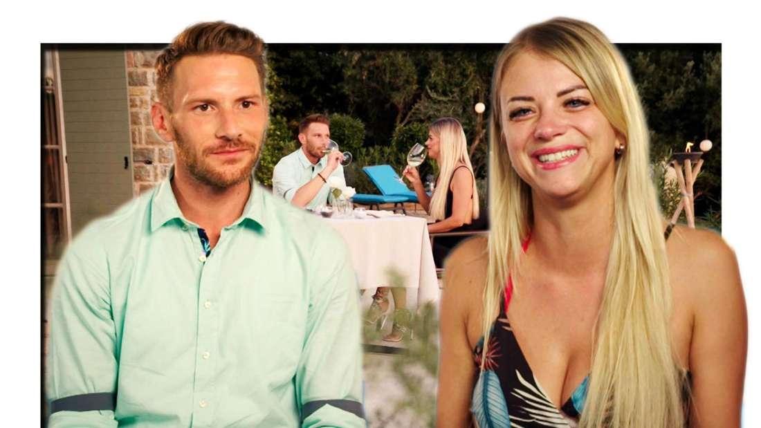 First Dates Barkeeper Rocco und Kandidatin Jacqueline bei First Dates Hotel