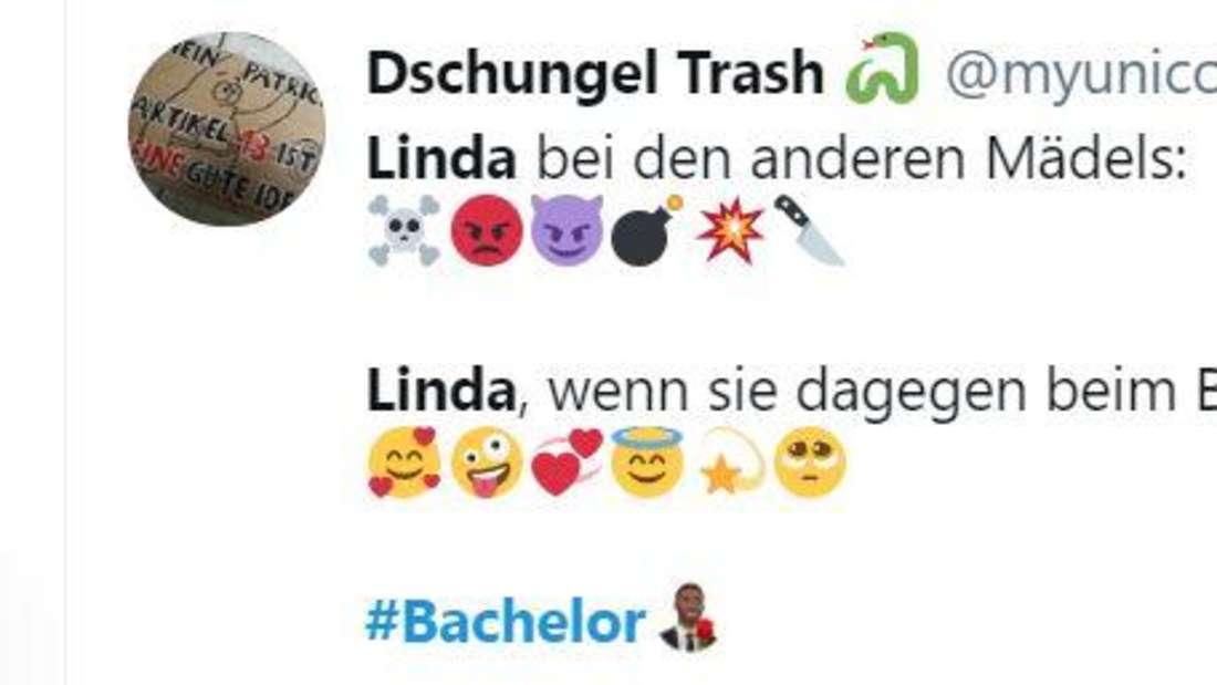 Ein Twitter-User beschreibt Linda nur mit Emojis