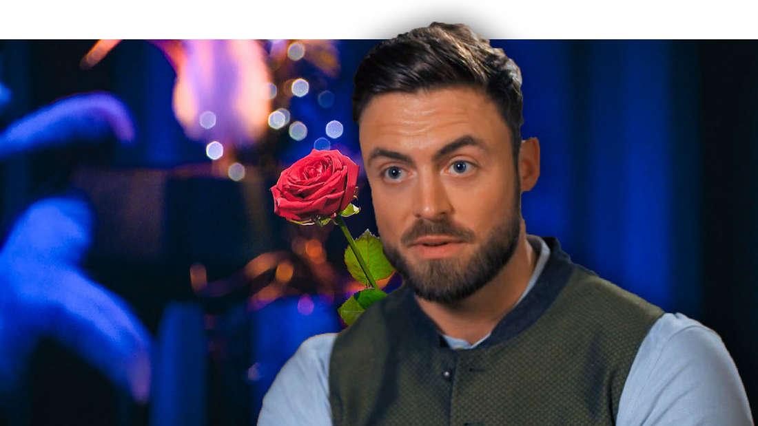 Niko Griesert schaut überrascht, im Hintergrund eine Rose (Fotomontage)