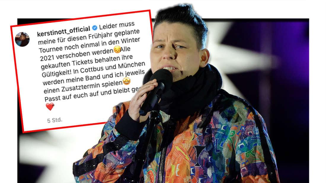 """Kerstin Ott tritt in der Weihnachtsshow des Mitteldeutschen Rundfunks (MDR) """"Weihnachten bei uns"""" auf. Screenshot von Kerstin Otts Instagram-Posting vom 24.02."""