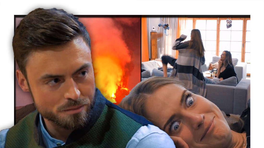 Niko Griesert schaut emotionslos, Mimi zieht eine Grimasse
