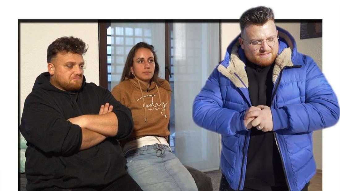 """Fotomontage: Menowin Fröhlich und seine Frau Senay bei den Dreharbeiten zu seiner Doku """"Menowin-Mein Dämon und ich"""""""