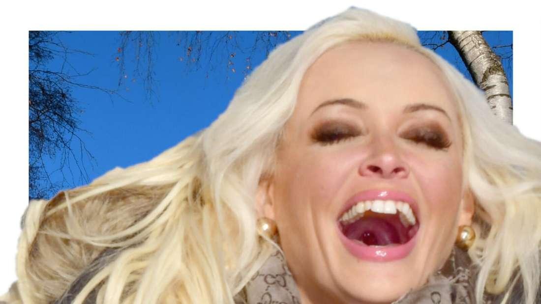 Daniela Katzenberger lacht lauthals (Fotomontage)