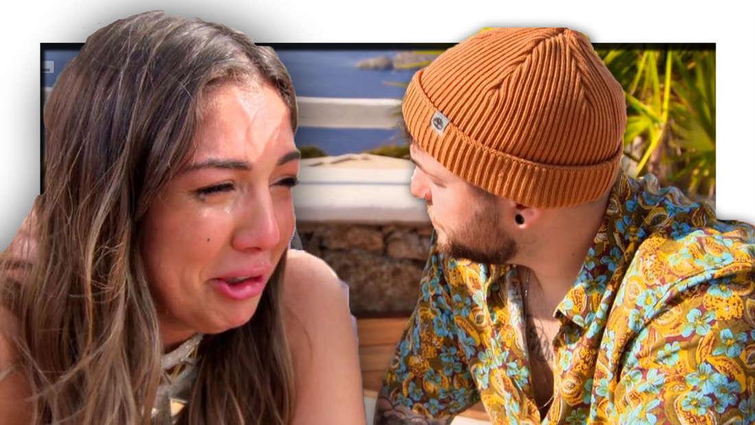 Katharina weint, Marvin schaut zur Seite (Fotomontage)