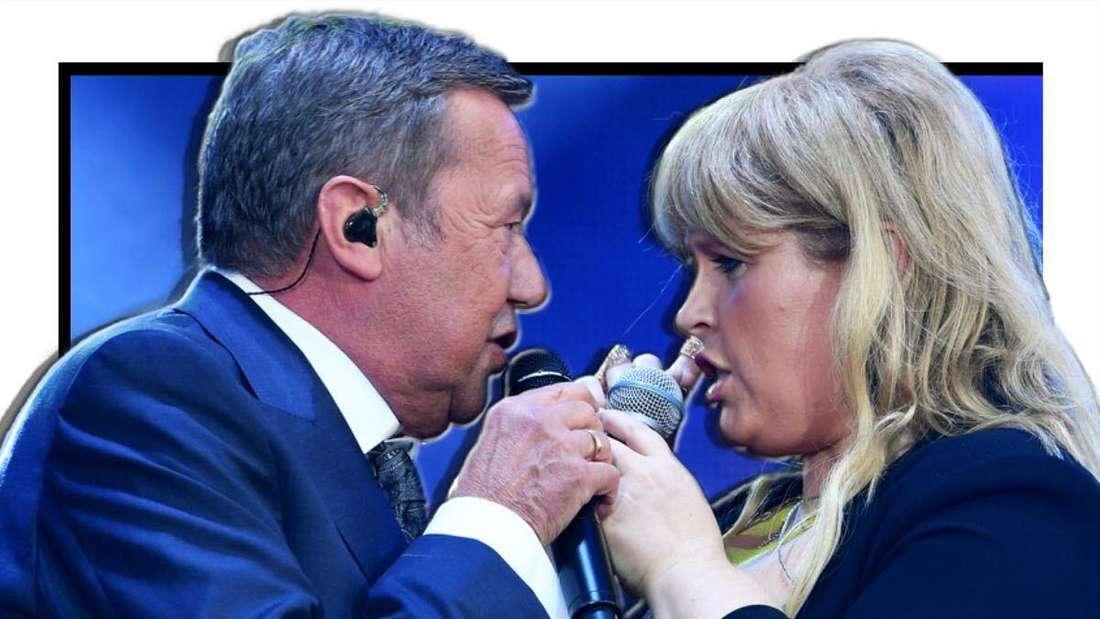 Roland Kaiser und Maite Kelly singen einander zugewandt (Fotomontage)