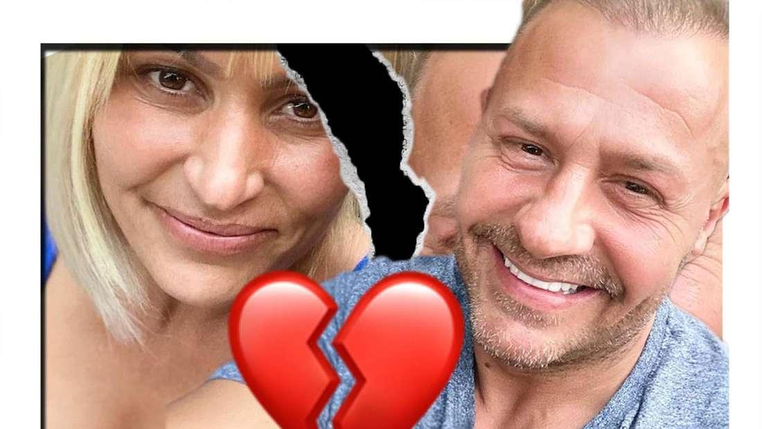 Fotomontage: Jasmin und Willi Herren getrennt durch einen Spalt, dazwischen ein gebrochenes Herz