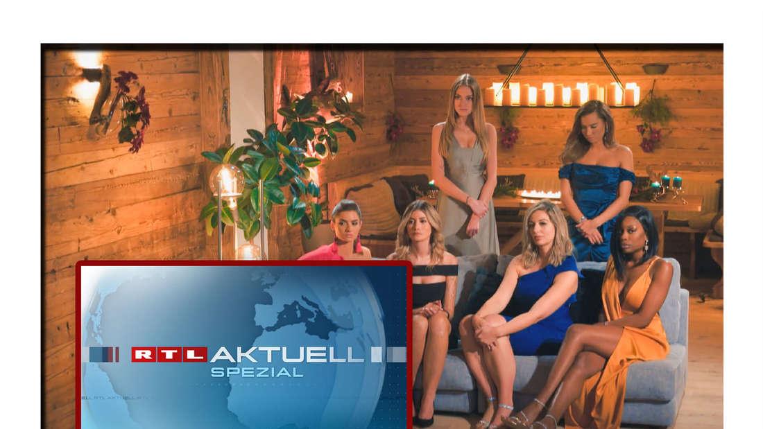 """Kandidatinne von """"Der Bachelor"""" und RTL Aktuell Spezial Logo (Fotomontage)"""