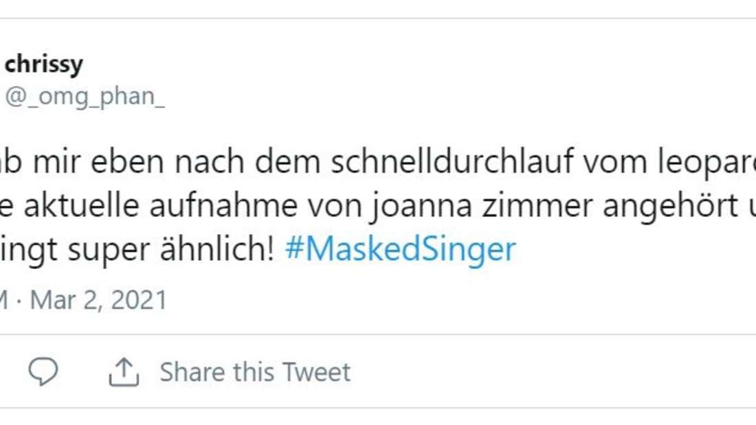 """""""Ich hab mir eben nach dem schnelldurchlauf vom Leopard mal eine aktuelle Aufnahme von Joana Zimmer angehört und das klingt super ähnlich"""", schreibt ein Twitter-User"""