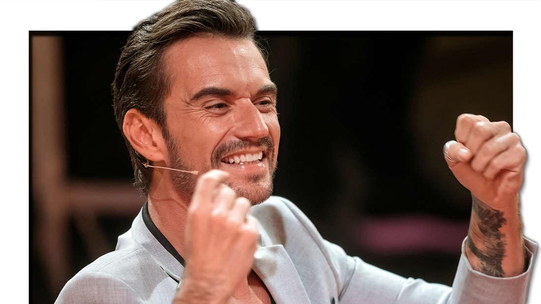 """Florian Silbereisen steht im bei """"Die große Show der Schlager, Stars und Storys 2017"""" am 24.11.2017 auf der Bühne. (Fotomontage)"""
