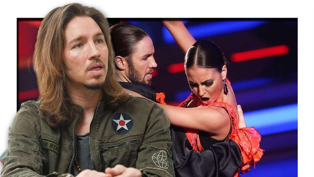 Fotomontage: Gil Ofarim, im Hintergrund tanzt er mit Ekaterina Leonova