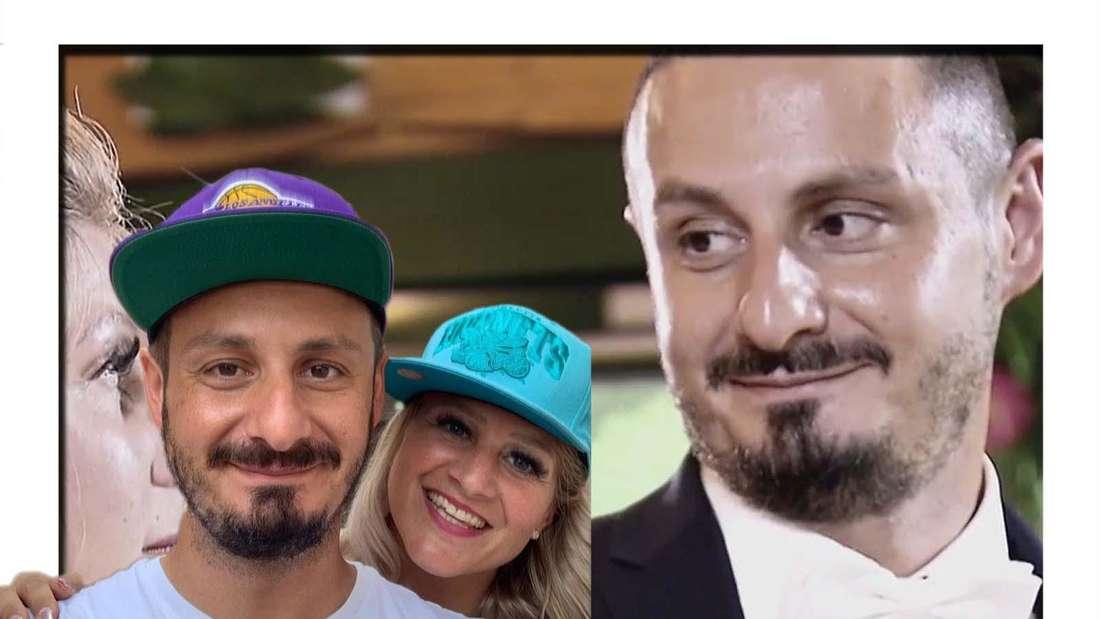 Fotomontage: Hadeb-Paar Samantha und Serkan bei ihrer Hochzeit und im Urlaub