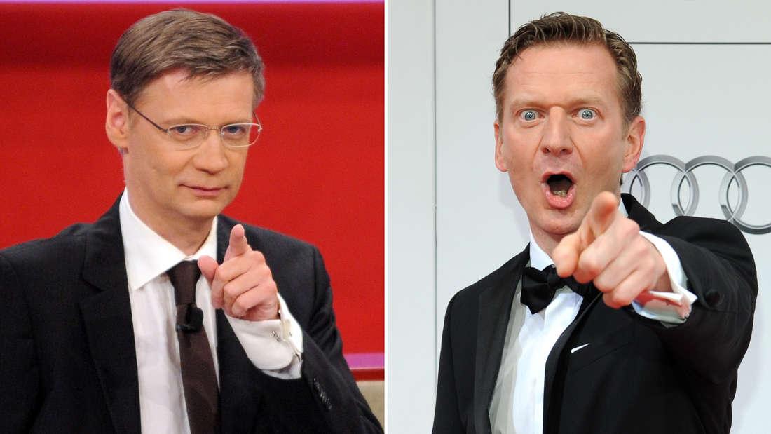 Günther Jauch links und Michael Kessler rechts